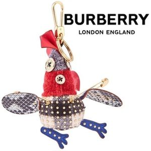 Burberry's Bill The Chicken Cashmere Charm-Camel